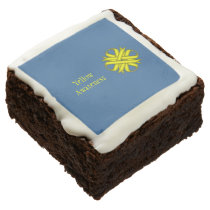 Yellow Clover Ribbon by Kenneth Yoncich Chocolate Brownie