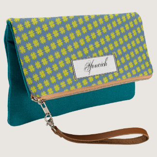 Yellow Clover Ribbon by Kenneth Yoncich Clutch
