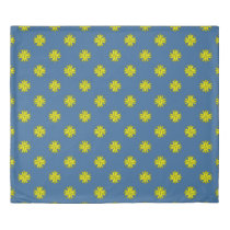 Yellow Clover Ribbon by Kenneth Yoncich Duvet Cover