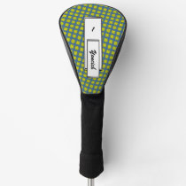 Yellow Clover Ribbon by Kenneth Yoncich Golf Head Cover