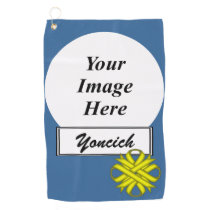 Yellow Clover Ribbon by Kenneth Yoncich Golf Towel