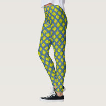 Yellow Clover Ribbon by Kenneth Yoncich Leggings