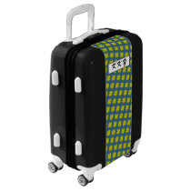 Yellow Clover Ribbon by Kenneth Yoncich Luggage