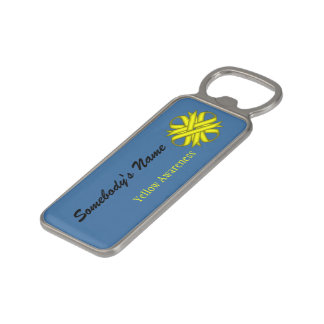 Yellow Clover Ribbon by Kenneth Yoncich Magnetic Bottle Opener