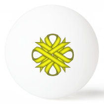 Yellow Clover Ribbon by Kenneth Yoncich Ping Pong Ball