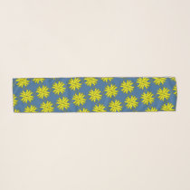 Yellow Clover Ribbon by Kenneth Yoncich Scarf