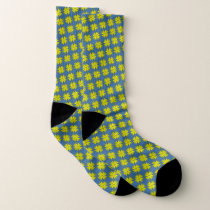 Yellow Clover Ribbon by Kenneth Yoncich Socks