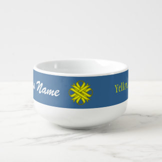 Yellow Clover Ribbon by Kenneth Yoncich Soup Mug