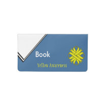 Yellow Clover Ribbon Checkbook Cover