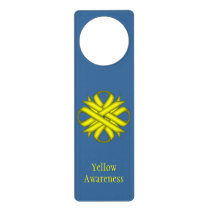 Yellow Clover Ribbon Door Hanger