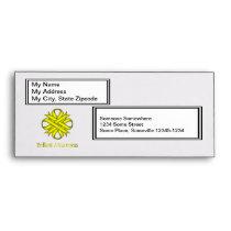 Yellow Clover Ribbon Envelope
