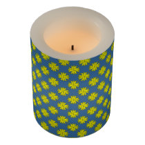 Yellow Clover Ribbon Flameless Candle