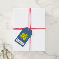 Yellow Clover Ribbon Gift Tags