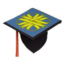 Yellow Clover Ribbon Graduation Cap Topper