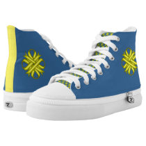Yellow Clover Ribbon High-Top Sneakers