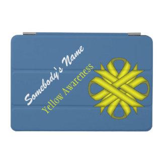 Yellow Clover Ribbon iPad Mini Cover