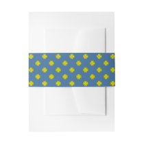 Yellow Clover Ribbon Invitation Belly Band