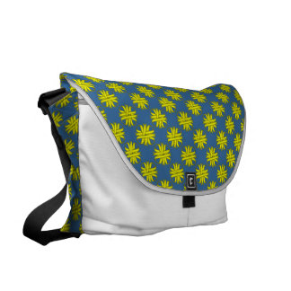 Yellow Clover Ribbon Messenger Bag