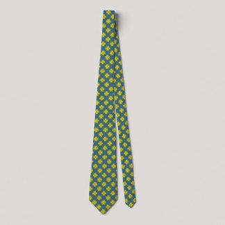 Yellow Clover Ribbon Neck Tie