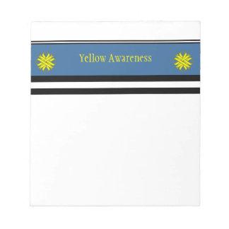 Yellow Clover Ribbon Notepad
