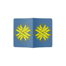 Yellow Clover Ribbon Passport Holder