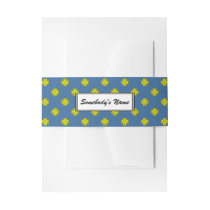 Yellow Clover Ribbon (Pers) Invitation Belly Band