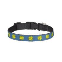 Yellow Clover Ribbon Pet Collar