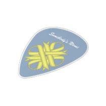 Yellow Clover Ribbon Polycarbonate Guitar Pick