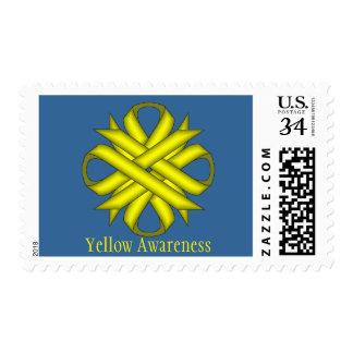 Yellow Clover Ribbon Postage