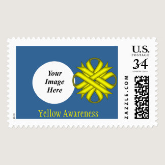 Yellow Clover Ribbon Postage