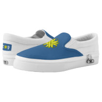 Yellow Clover Ribbon Slip-On Sneakers