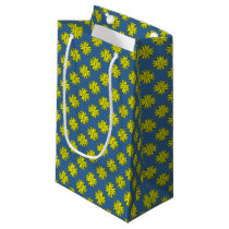 Yellow Clover Ribbon Small Gift Bag