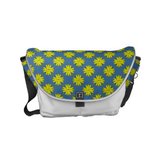 Yellow Clover Ribbon Small Messenger Bag