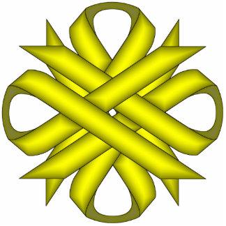 Yellow Clover Ribbon Statuette