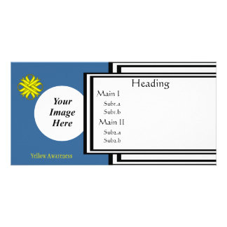 Yellow Clover Ribbon Template