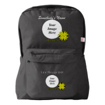Yellow Clover Ribbon Template American Apparel™ Backpack