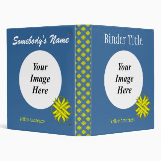 Yellow Clover Ribbon Template Binder