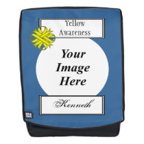Yellow Clover Ribbon Template by Kenneth Yoncich Backpack