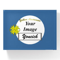 Yellow Clover Ribbon Template by Kenneth Yoncich Paperweight