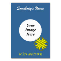 Yellow Clover Ribbon Template by Kenneth Yoncich Table Number