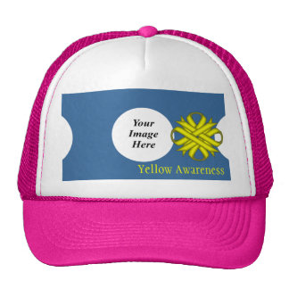 Yellow Clover Ribbon Template by Kenneth Yoncich Trucker Hat