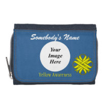 Yellow Clover Ribbon Template by Kenneth Yoncich Wallet