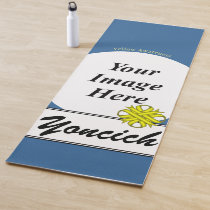 Yellow Clover Ribbon Template by Kenneth Yoncich Yoga Mat