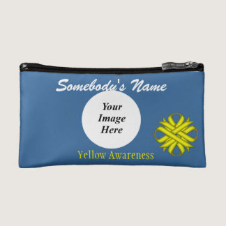 Yellow Clover Ribbon Template Cosmetic Bag