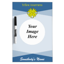 Yellow Clover Ribbon Template Dry Erase Board