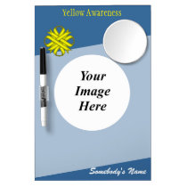 Yellow Clover Ribbon Template Dry Erase Board With Mirror