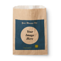 Yellow Clover Ribbon Template Favor Bag