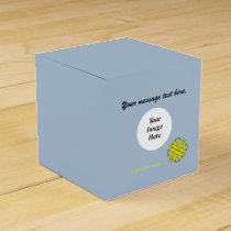 Yellow Clover Ribbon Template Favor Box