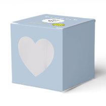 Yellow Clover Ribbon Template Favor Box