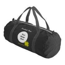 Yellow Clover Ribbon Template Gym Bag